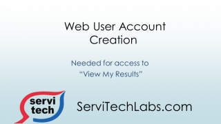 Web User Account Creation - ServiTech